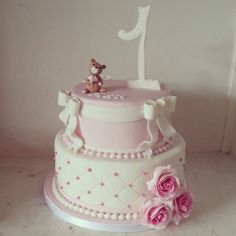 birthday cake for a little girl - * In style of her parents wedding cake 2 years ago