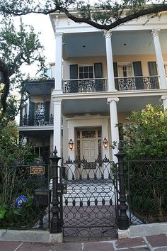 Rosegate, 1239 First Street, Garden District....in the Garden District of New Orleans - It was built in 1857 for wealthy merchant Albert Brevard who lived there only two years before shooting himself over the house's tax assessment. The house was purchased in 1989 by Anne Rice. She set her Mayfair Witches books in the house, describing the halls, gardens and pool in great detail.