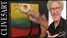 Tranquil Trees, Acrylic painting for beginners,#clive5art