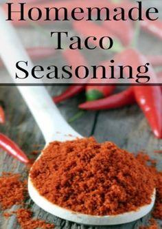 ... | Homemade Seasonings, Homemade Spices and Homemade Chili Seasoning