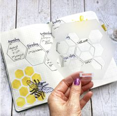 Honeycomb Hexagon Journal Stencil Use the Hexagon Stencil to quickly and accurately create hexagon themed bullet journal spreads. Bullet Journal Markers, Bullet Journal Grid, December Bullet Journal, Bullet Journal Stencils, Bullet Journal Tracker, Bullet Journal Hacks, Bullet Journal Spread, Bullet Journal Layout, Bullet Journals
