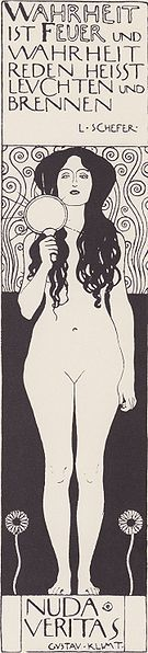 Gustav Klimt - Nuda Veritas (1902) Austrian Expressionist