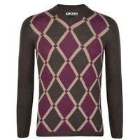 DKNY-MENS FASHION-Men's Tops-Argyle Merino Wool Jumper-£64.00-Argyle Merino Wool Jumper from DKNY  Luxurious pure merino wool mens jumper from DKNY. This soft knit jumper features an abstract argyle pattern design to the front and is finished with subtle DKNY branding.    > Abstract argyle design  > V neck  > Soft wool stretch structure  > Iconic DKNY branding  > 100% Merino Wool  > Hand wash only    Find our latest range of Mens Jumpers available online at USC.co.uk.   Dark Brown S