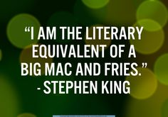 Sure, if by Big Mac and fries he means liver with fava beans and a nice chianti.....