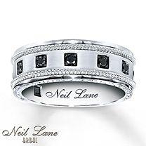 1/4 Ct. t.w. Black Diamond Ring Round-Cut 14K White Gold $2599