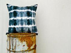 WAYFARER . tie dye cushion cover . black . cotton . boho gypsy hippie industrial . au wandarrah etsyau . throw pillow