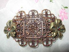 Lovely Handmade Victorian Hair Barrette with Aurora by TMurrayArt, $14.50