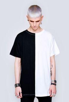 Long 2 Tone T-Shirt - longclothing.com