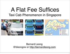 Have you ever wondered why you are never able to get a taxi during certain times of the day in Singapore? Have you ever wondered why the taxi drivers are always complaining? Are the incentives really that bad for them? Gathering some anecdotal evidence coupled with economics and physics, I seek to analyze the cultural phenomenon of taxi cabs in Singapore. At the end, I present a solution based on free market and competition to how the problem might be solved.