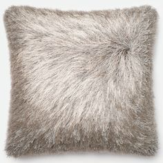 Alexander Home Luxe Solid Shag Down Feather or Filled 22-inch Throw Pillow or Pillow Cover