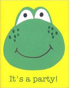 Handmade frog birthday cards