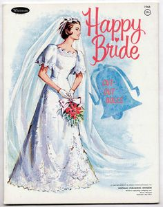 Vintage Whitman #1966 HAPPY BRIDE paper dolls 1967 uncut/unused/Wedding Party | eBay