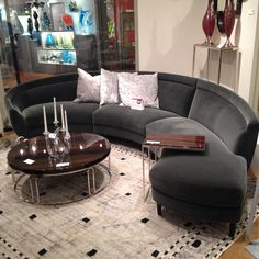 Capri sofa by #weiman at Interlude Home. Is #lux and comfortable. #hpmktss #hpmkt #sofa #furniture