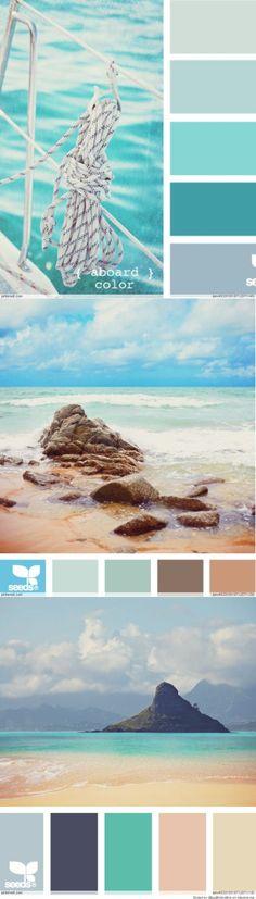 Coastal Color Palette #newandnow
