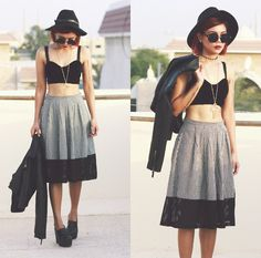 Get this look: http://lb.nu/look/6713596  More looks by Bernadette F: http://lb.nu/borntobotheryou  Items in this look:  Young Hungry Free Mesh Midi   #edgy #grunge #street