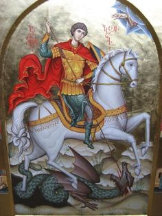 Hear us, O passion-bearer of Christ, Saint George,  and pray for us without ceasing unto the Master of All, God in  three Persons, that by His Grace and love for mankind, and by  thy help and intercession, we may find mercy and may stand  with the angels and archangels before the All-glorious Judge,  unceasingly praising Him together with the Father and the Holy  Spirit, now and ever, and unto the ages of ages. Amen.
