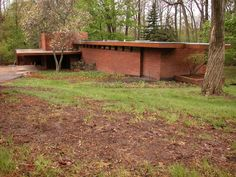 Frank lloyd wright 1940 gregor affleck house bloomfield - House of bedrooms bloomfield hills mi ...