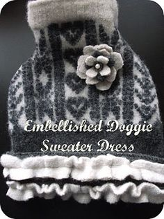 how to make a dog sweater from a felted wool sweater, using another sweater to make a pattern