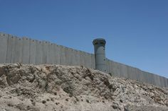 View of the security wall between Israel and Palestine.