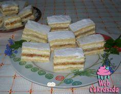 Citromos szelet (Lakodalmas sütemény) Hungarian Cake, Hungarian Recipes, Christmas Sweets, Edible Flowers, Holiday Dinner, Winter Food, Cake Recipes, French Toast, Deserts
