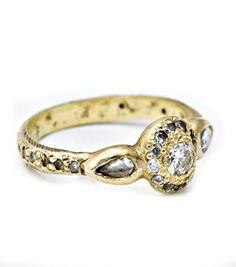 elisa solomon ancienne diamond ring $2540 #accessories #rings