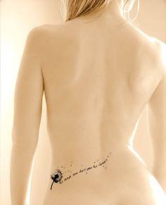 Tattoo pissenlit et phrase