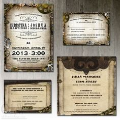 Awesome steampunk wedding invitations from Odd Lot