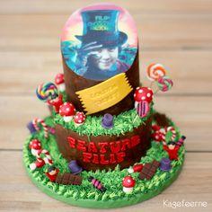 "Feature:Filip nonfirmation. Film tema ""Charlie og chokoladefabrikken"" - Movie Theme ""Charlie and the Chocolate factory cake"""