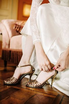 Bronze Bridal Shoes - A Breathtaking Colonial Wedding Styled Shoot in Lima