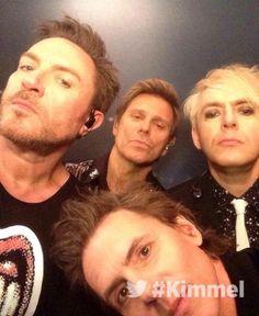 Duran Duran backstage at Jimmy Kimmel Live