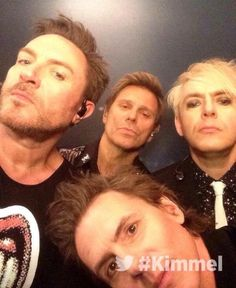 Duran Duran backstage at Jimmy Kimmel Live