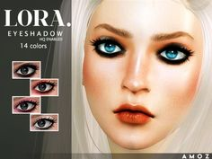 The Sims Resource: Lora Eyeshadow by Amoz. • Sims 4 Downloads