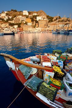 The historic port of Hydra, Hydra island #Greece