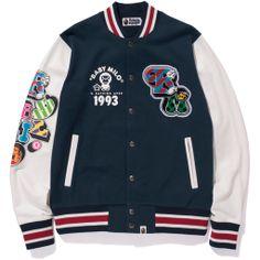 A BATHING APE Milo Lettered Varsity Jacket