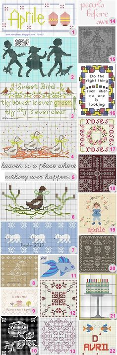 22 Spots to Visit for Cross Stitch Freebies on Needlework at Craft gossip
