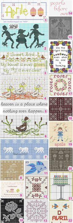 More free cross-stitch charts