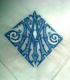 Antique French linens with old world monograms