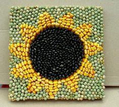 Summer Crafts, Fall Crafts, Crafts For Kids, Diy Crafts, Mosaic Crafts, Mosaic Art, Mosaics For Kids, Bible School Crafts, Sunflower Art