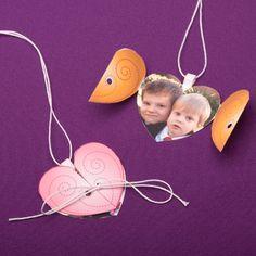 Use this idea with more durable material... It's a mock locket.  cute