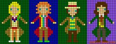 Doctor Who doctors perler bead pattern