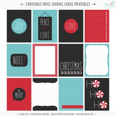 FREE {PRINTABLE} Christmas Twist Journal Cards