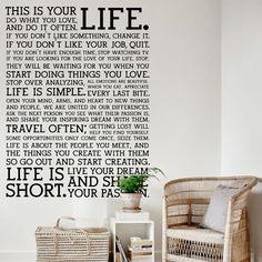 FR54| This is your life - Comprar en Vinilo Hogar vinilo decorativo frase
