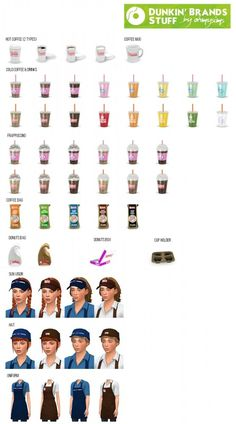 Dunkin stuff pack (60 items) at Oh My Sims 4