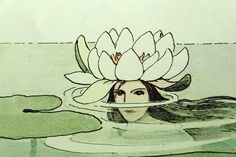 'Dronning Vannlilje' - Queen Water Lily by Elsa Beskow Art And Illustration, Gravure Illustration, Illustrations, Elsa Beskow, Kunst Inspo, Art Inspo, Fantasy Kunst, Fantasy Art, Lilies Drawing