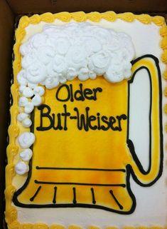 Beer Mug cake for a 50th birthday I made: