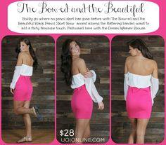 Bow Back Skirt! So Cute