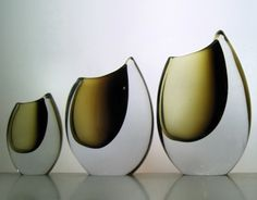 1955 Stromberg 'shark tooth' vases