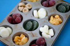 Good way set portions for Frozen #GreenSmoothie Bags...