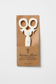 Handcrafted Walden Pond Bone Scissors / Anthropologie.com