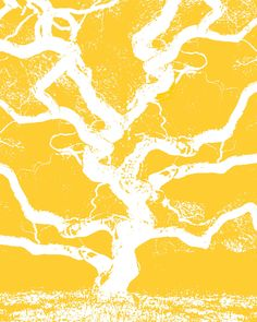Yellow Tree Art Print Set